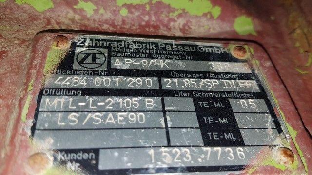 REAR AXLE FOR TEREX 3066  ZF AP9 HK | Maquinaria Honrado S L